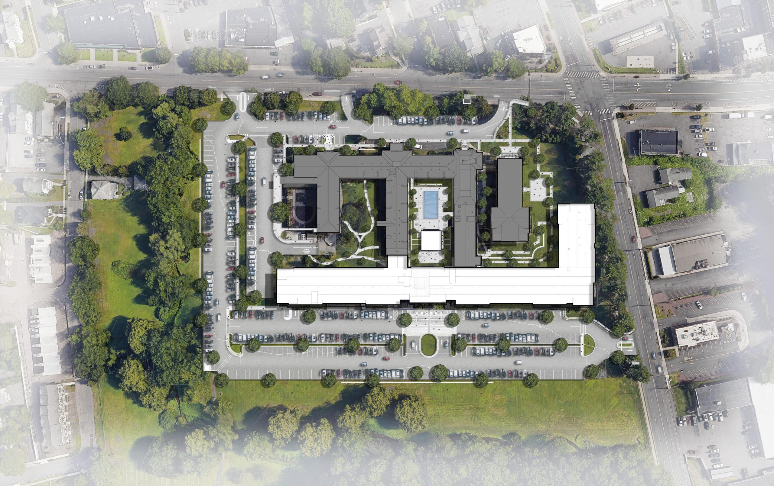 One Park Site Plan rendering